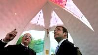 Passos Coelho e Manuel Agonia na inauguração dos Hospitais Senhor do Bonfim
